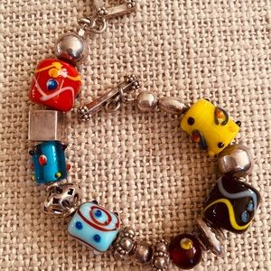 Silpada Sterling Silver and glass stone bracelet
